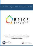 Report: Brazil's 2019 Chairship of the BRICS: Charting a Course for 2020